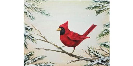 Adult Paint Party: Holiday Cardinal