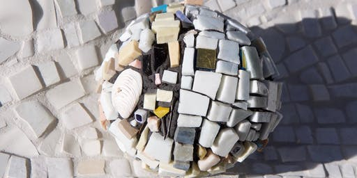 Making mosaic garden globes - Sunday Class