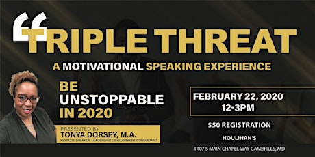 A Motivational Speaking Experience to Kickoff the New Year! tickets