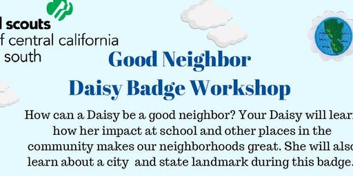 Good Neighbor - Daisy Badge - Fresno
