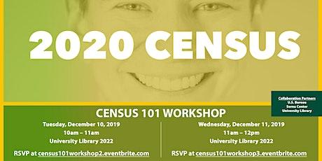 Census 101 Workshop 3 tickets