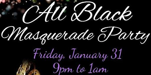 All Black Masquerade Party