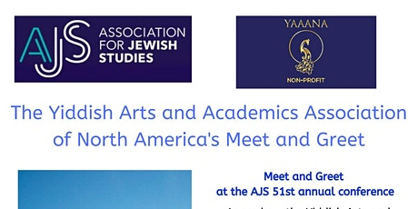 Meet and Greet  at the AJS 51st annual conference tickets