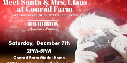Meet Santa Dec 7th at Conrad Farm