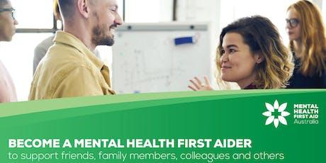 Standard Mental Health First Aid Course (2 days) 16 & 17 Dec CBD tickets