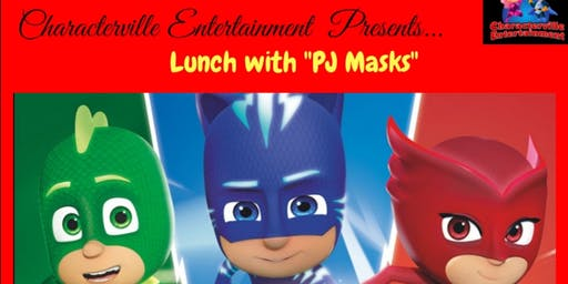 Lunch With PJ Masks at Characterville !!!
