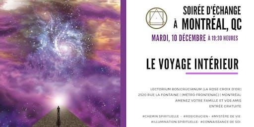 """Soirée d'échange à Montréal- """"Le voyage intérieur"""""""