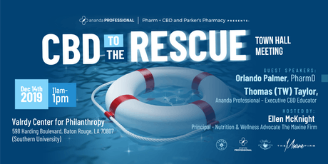 Ananda Professional, Pharm + CBD & Parker's Pharmacy presents CBD To The Rescue! tickets