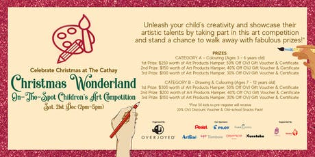 """Christmas Wonderland"" On-The-Spot Children's Art Competition tickets"