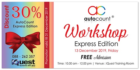 AutoCount Workshop : Express Edition tickets
