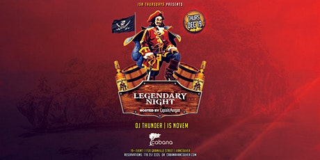 Legendary Night, Hosted by Captain Morgan tickets