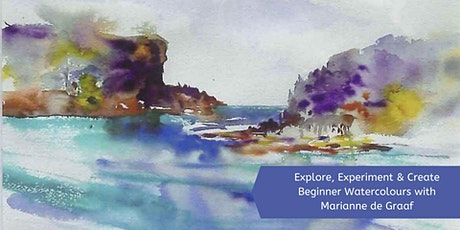 Explore, Experiment & Create Beginner's Watercolour with Marianne de Graaf tickets