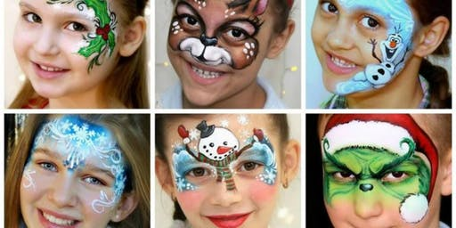 Christmas Facepaint & Holiday Sparkle Makeover
