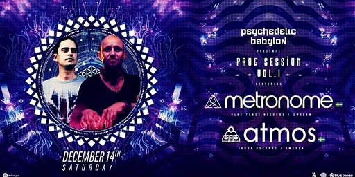 Psychedelic Babylon: Prog Sessions vol.1 w/ ATMOS (Swe) & METRONOME (Swe)