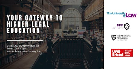 Your gateway to higher legal education : BPC/ LPC/ LLM tickets