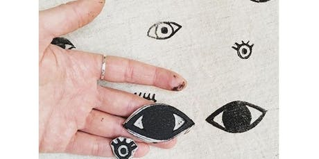 Beginning Block Printing - Print on Fabric and More! (2020-01-09 starts at 7:00 PM) tickets