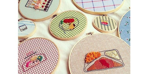 Beginning Embroidery - Learn to draw with thread with Artist Jennie Lennick (2020-01-15 starts at 7:00 PM)