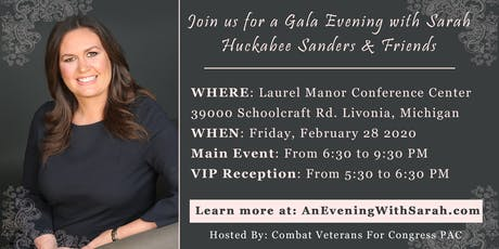 An Evening With Sarah Sanders & Friends tickets
