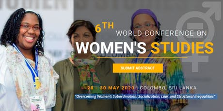 The 6th World Conference on Women's Studies 2020 (WCWS 2020) tickets