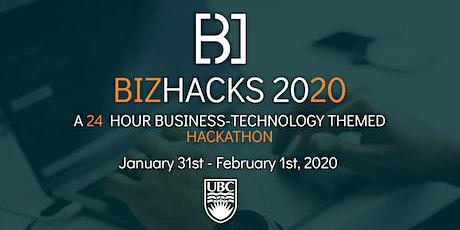 BizHacks 2020 tickets
