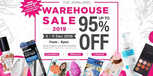 The Japalang Warehouse Sale 2019