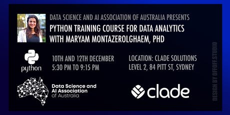 Python Training Course for Data Analytics tickets