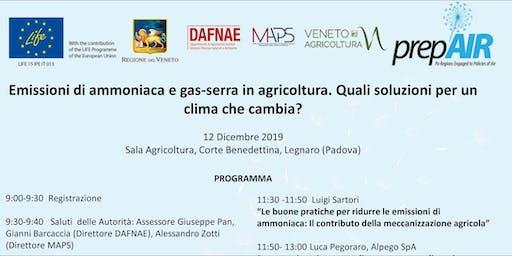 Emissioni di ammoniaca e gas-serra in agricoltura