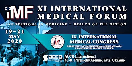 XІ International Medical Forum «Medicine Innovations – the Nation's healt tickets