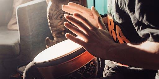 Mantra Drumming Workshop Jam Circle