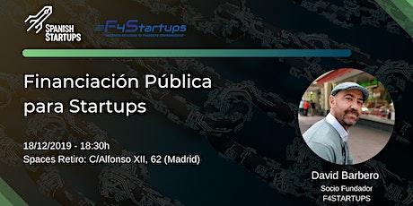 Financiación pública para Startups entradas