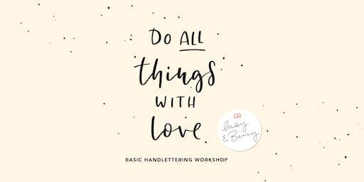 Basic Lettering Workshop 16. Januar 2020