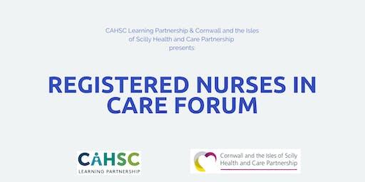 Registered Nurses in Care Forum