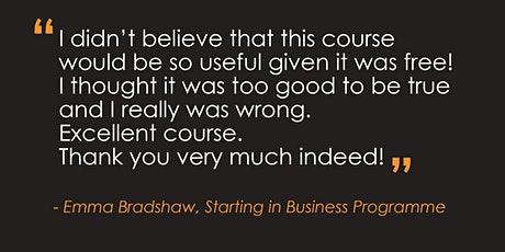 FULLY BOOKED-Starting in Business Programme – Nottingham tickets