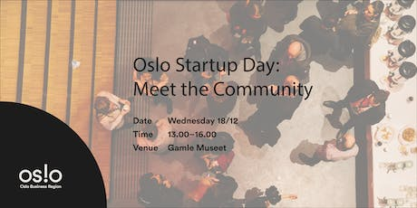 Oslo Startup Day: Meet the Community tickets