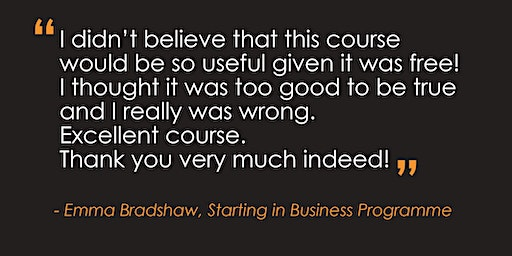 FULLY BOOKED Starting in Business Programme – Nottingham