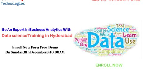 Free Data Science Demo  At Kelly Technologies Sunday, 8th Dec@10AM, In,Hyd tickets