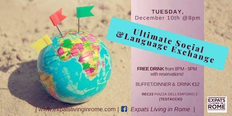 Ultimate Social Language Exchange Aperitivo! biglietti