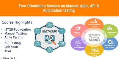 Free Orientation Session on Manual, Agile, API, Automation Testing.
