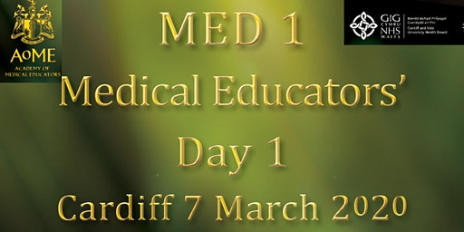 MED1 - Medical Educators' Day 1, Cardiff 2020