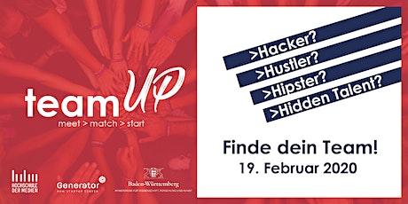 TeamUp - Finde dein Team! Tickets
