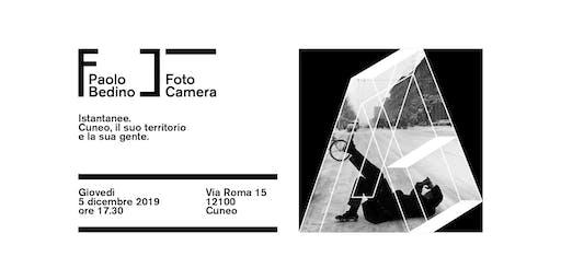 Inaugurazione dello spazio FotoCamera e dell'esposizione su Paolo Bedino