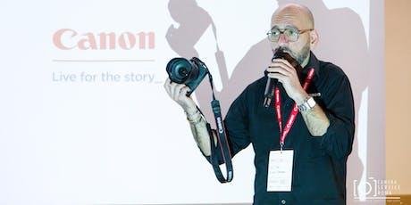 Canon Day: impostazioni di EOS R, RP, Mirrorless EOS M e REFLEX biglietti