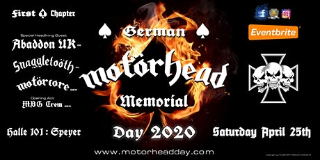 MOTÖRHEAD DAY 2020 - GERMAN MEMORIAL Tickets