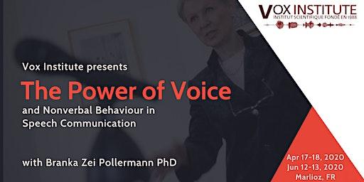 The Power of Voice & Non-Verbal Behaviour in Speech Communication
