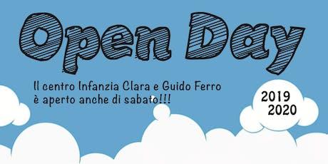 """Gli Open Day del Centro Infanzia """"Clara e Guido Ferro"""" biglietti"""