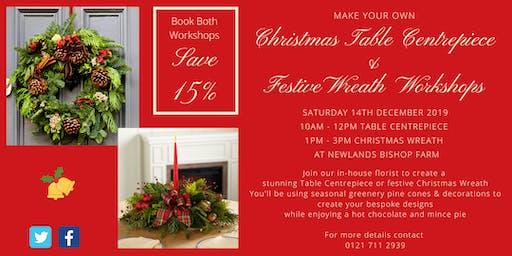 Christmas  Table Centrepiece & Wreath Workshops