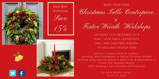 Christmas  Table Centrepiece & Wreath Workshops