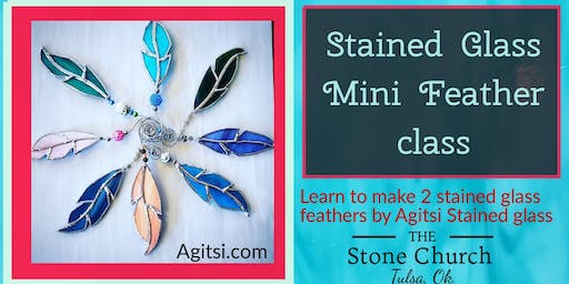 Stained Glass Mini Feathers Class with Agitsi