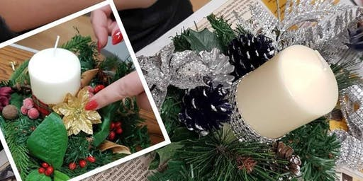 *NOW FULL* Christmas Pillar Candle Centrepiece