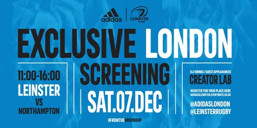 Leinster RC X  adidas Exclusive London Screening